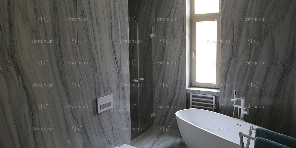 Мраморная ванная комната 1